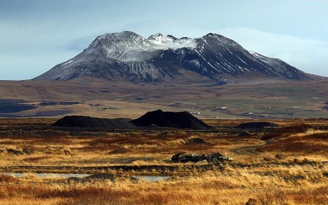 Le Puissant Volcan Hekla En Islande