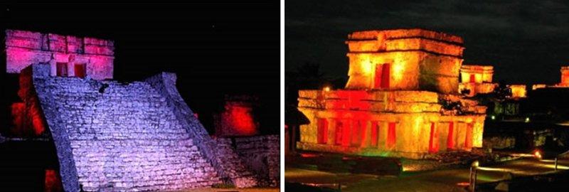 ruines de tulum la nuit