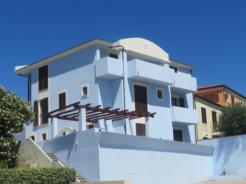 maison bleue sardaigne