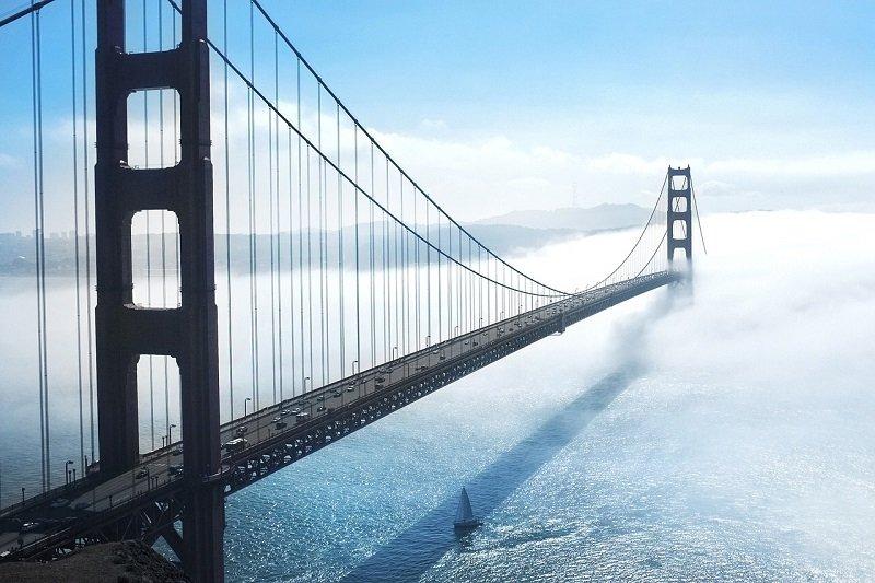 pont de san francisco brouillard