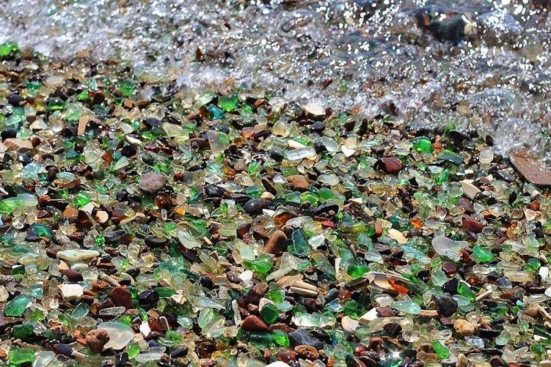 plage de verre oussouri