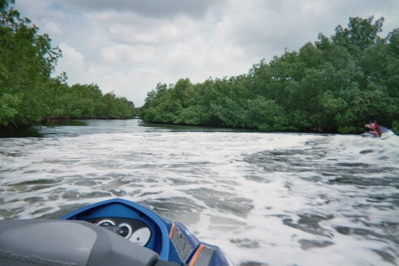 scooter mangrove guadeloupe