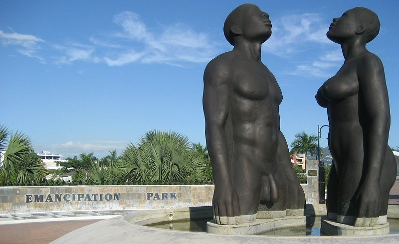 statue emancipation park jamaique