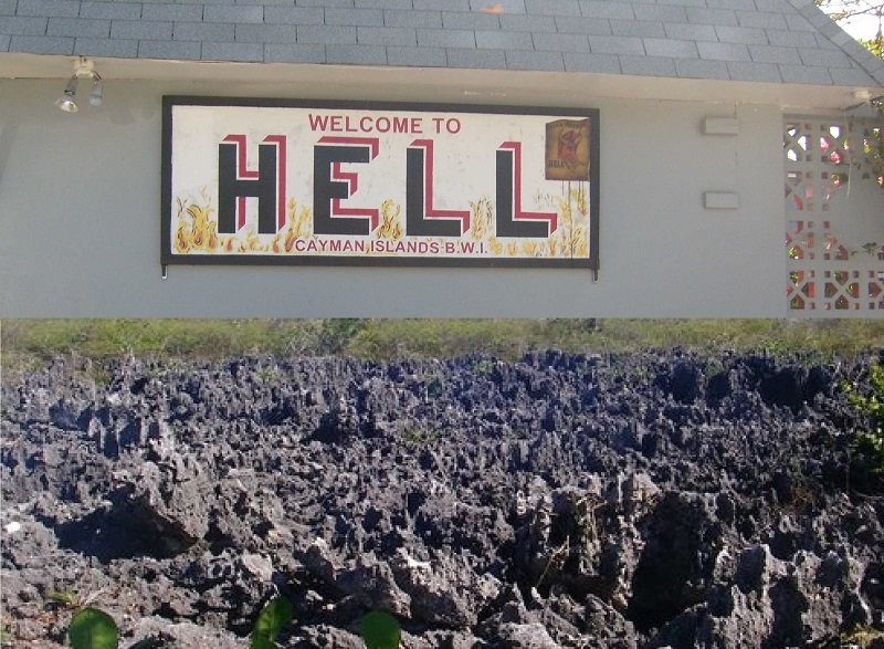 hell grand cayman