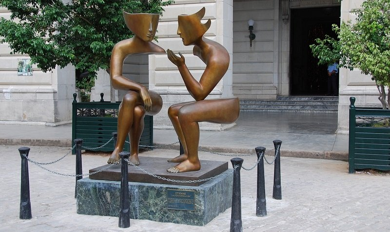 sculpture La Conversacion