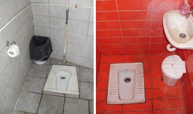 toilettes en grèce