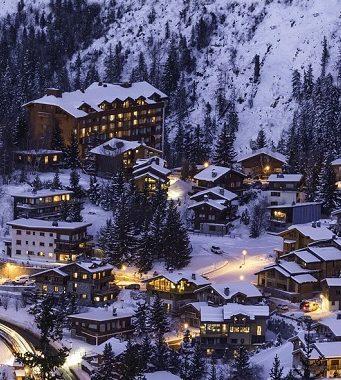 montagne chalet ou hotel