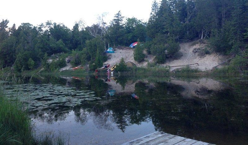 Sandbanks camping