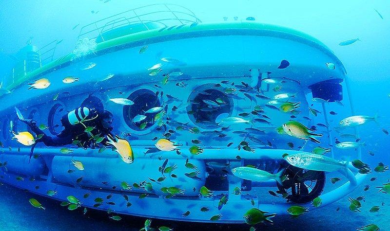 Coloriage Bateau Sous Marin.Safari Sous Marin A Lanzarote