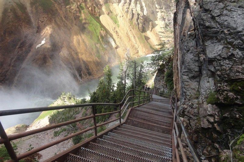 parc national de yellowstone randonnée