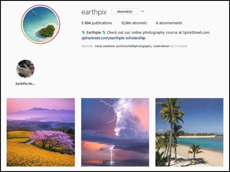 meilleur instagram voyage