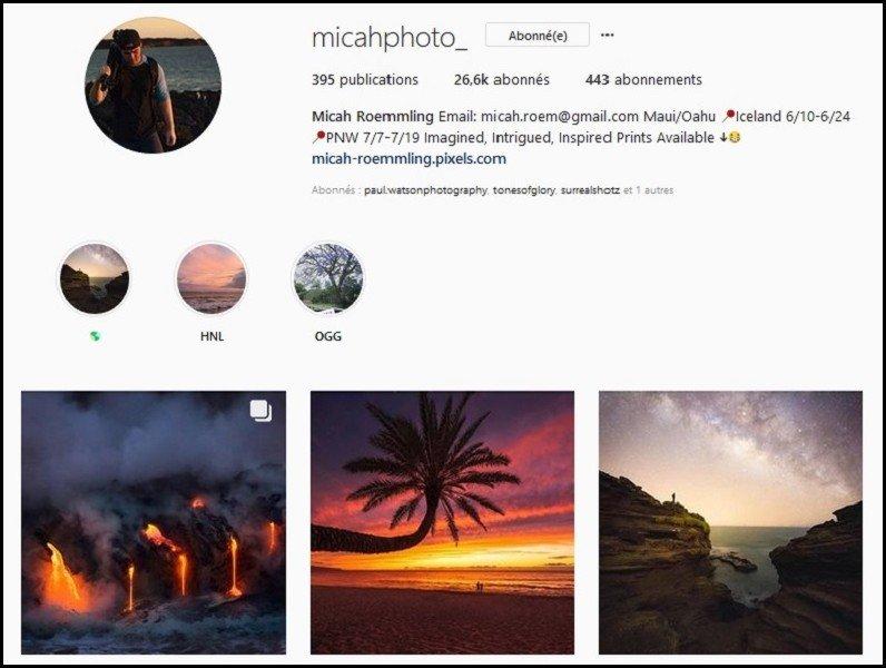 comptes instagram voyage