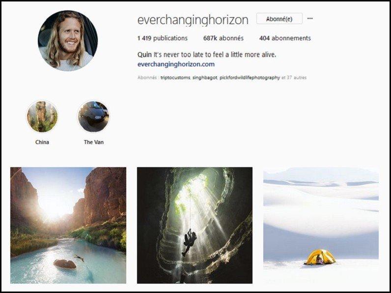 meilleurs comptes instagram voyage