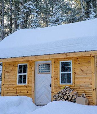 chalet neige montagne