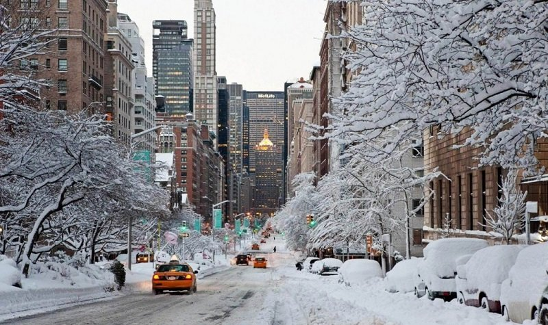 Visiter les États-Unis en hiver