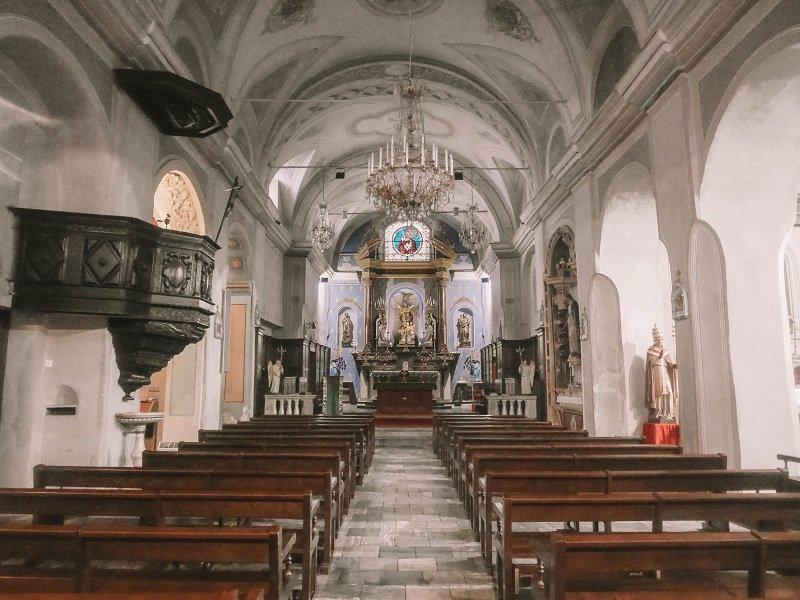 intérieur église de l'annonciation à corté