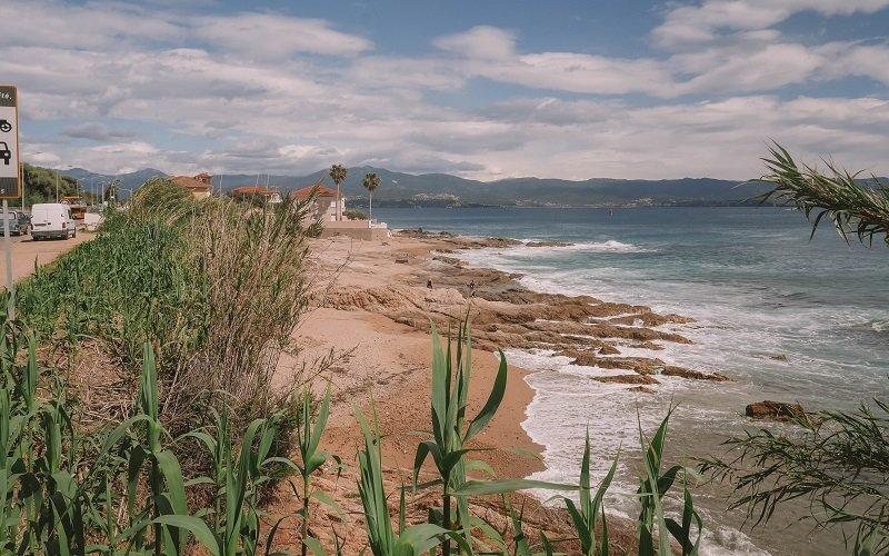 plage des galets à ajaccio