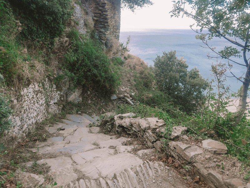 escalier mer nonza