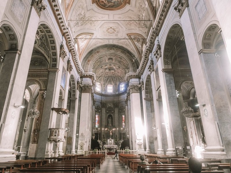 interieur église saint jean baptiste de bastia
