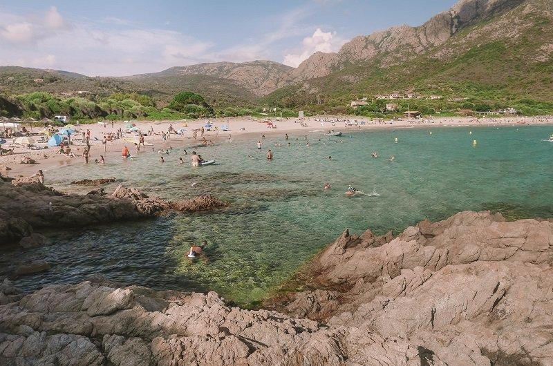 plage d'arone photo