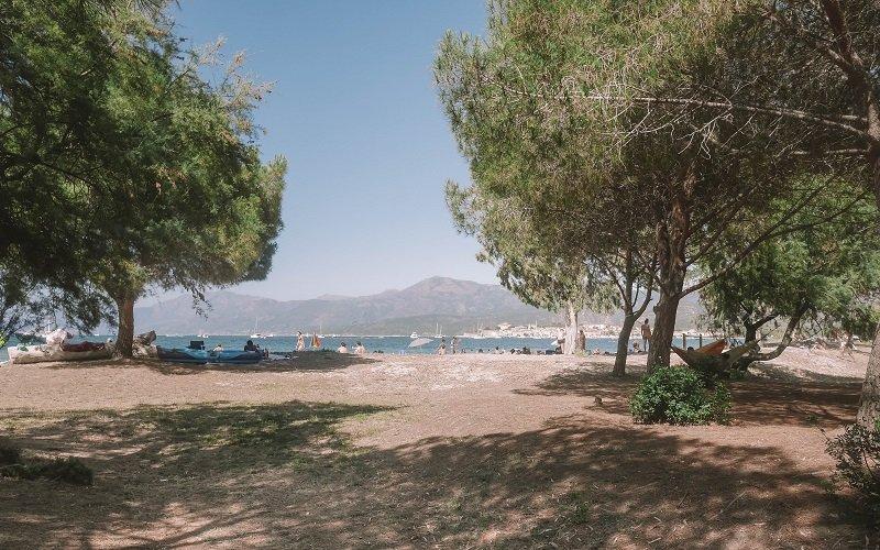 vue de la plage de la roya