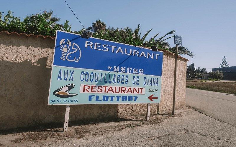 restaurant etang de diane