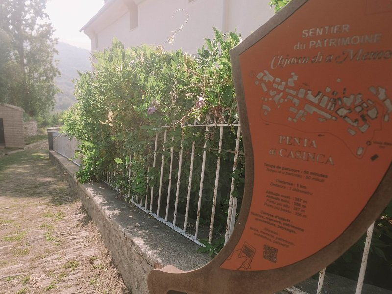 sentier du patrimoine penta di casinca