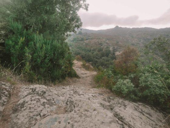 chemin vers la cascade de Sorio