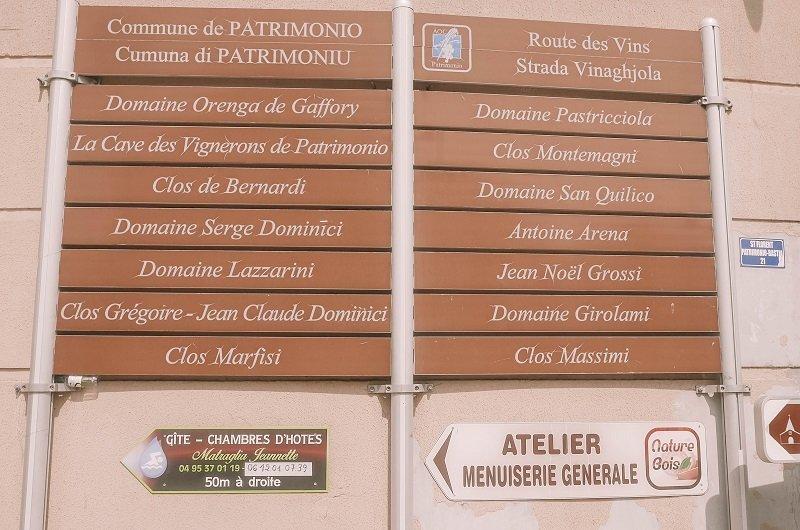 route des vins patrimonio