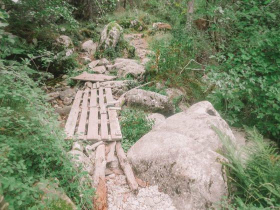 pont rivère palettes