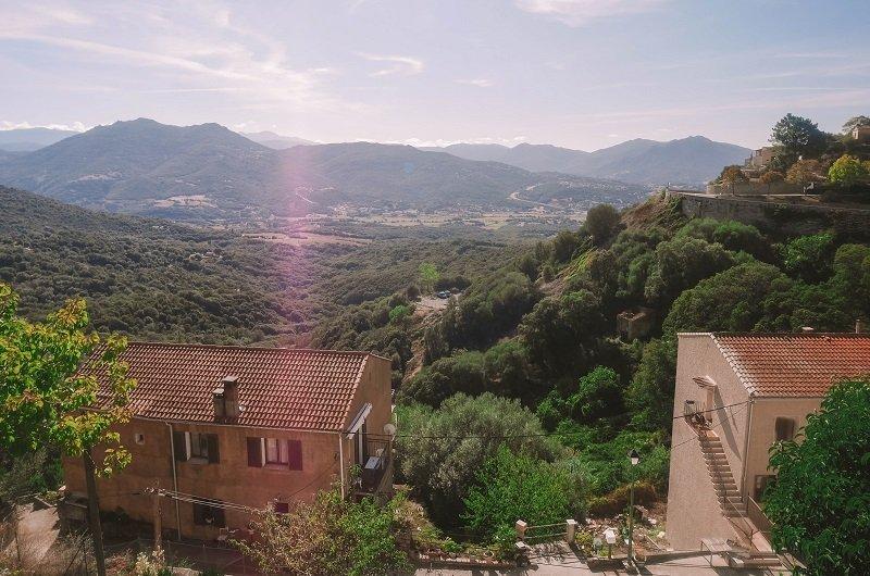 vue depuis village olmeto