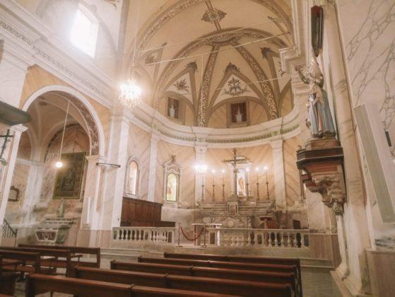 interieur eglise santa maria lumio