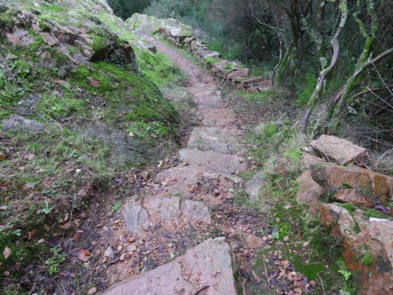 escalier randonnée corse