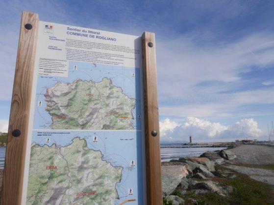 panneau sentier littoral macinaggio