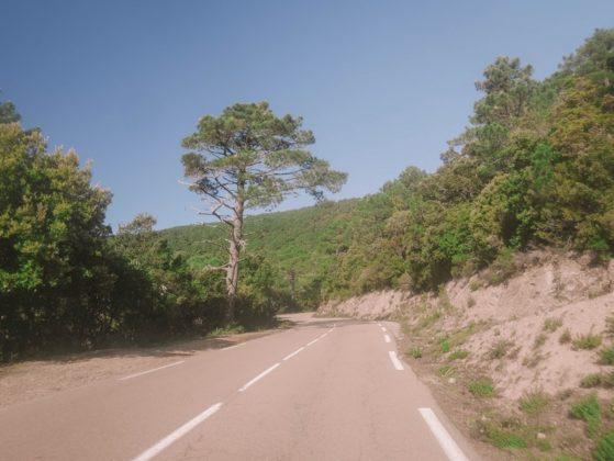 route de porto vecchio à zonza
