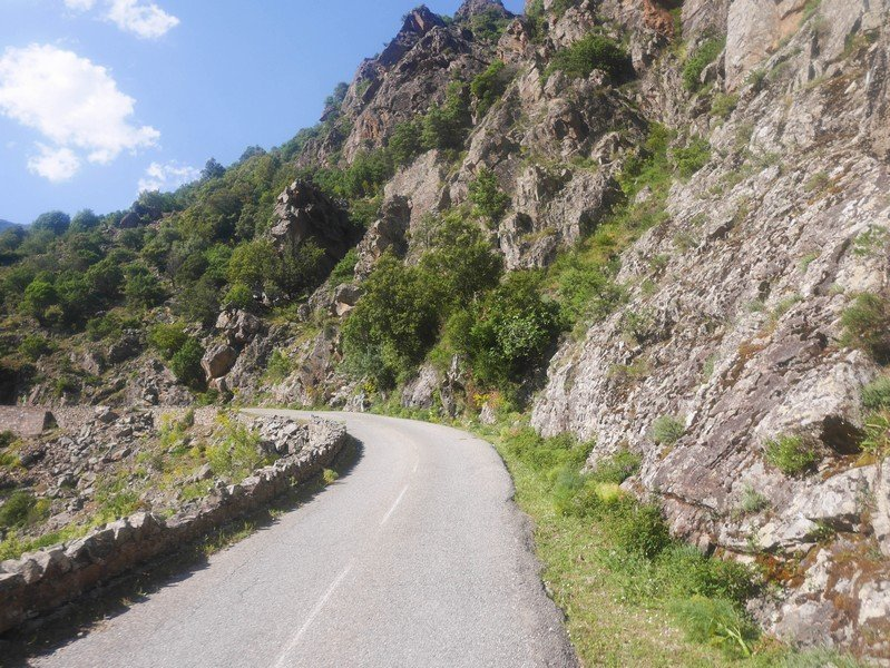 route sinueuse corse
