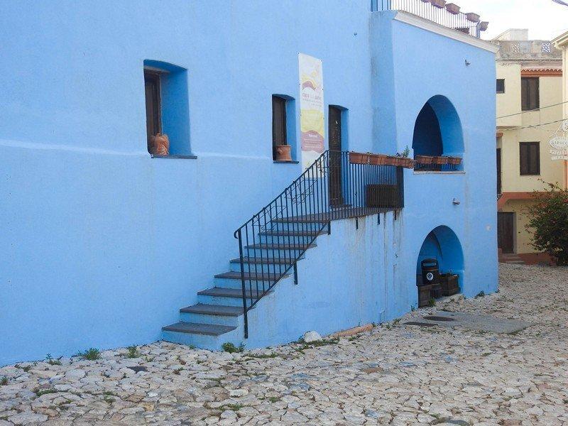 maison bleu sardaigne