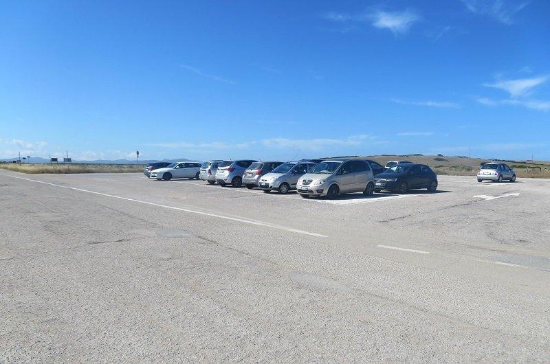 parking plage le saline stintino