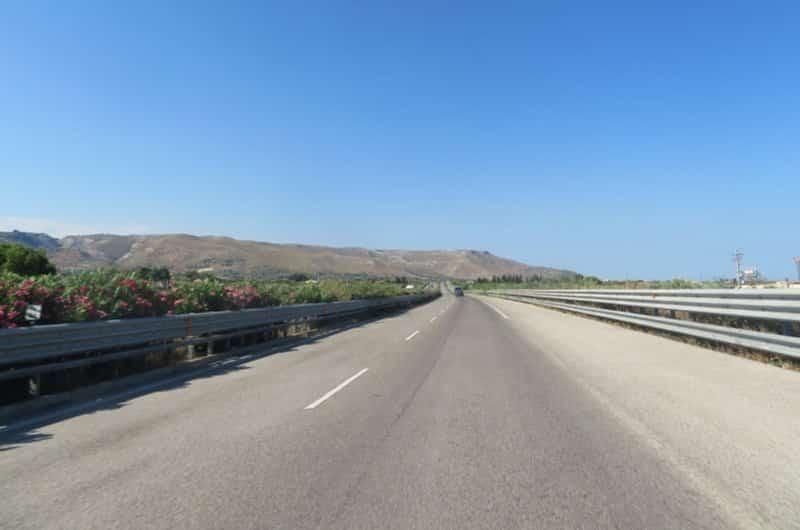 les routes en sicile