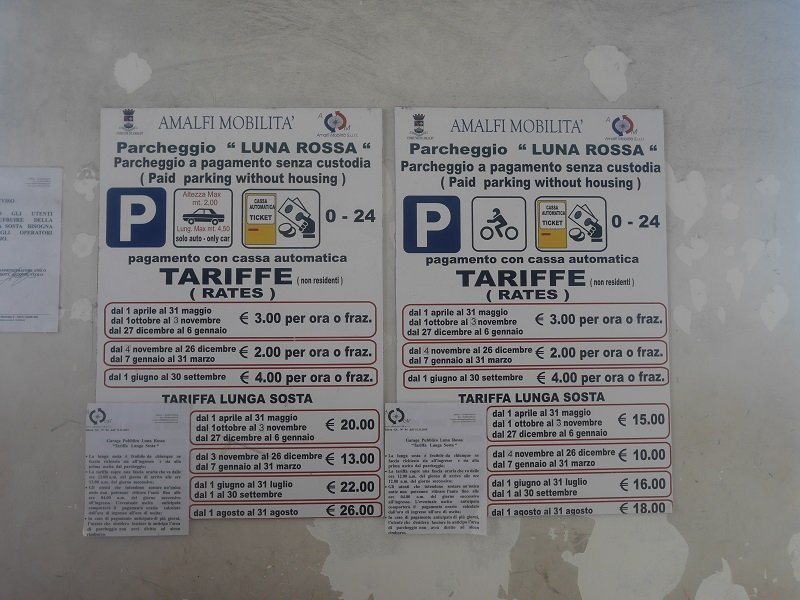 parking luna rossa tarif