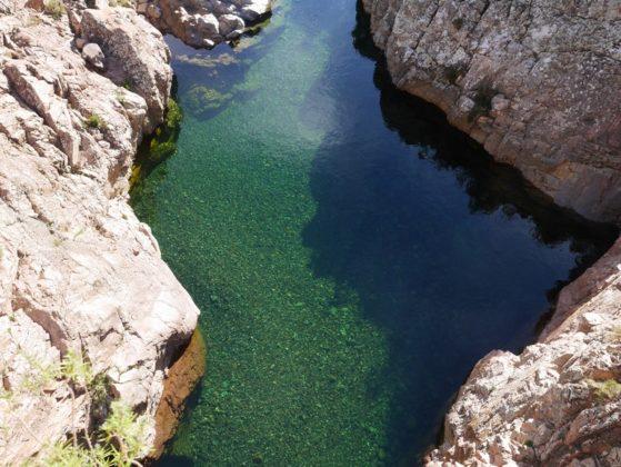 piscine naturelle dans la vallée du fango