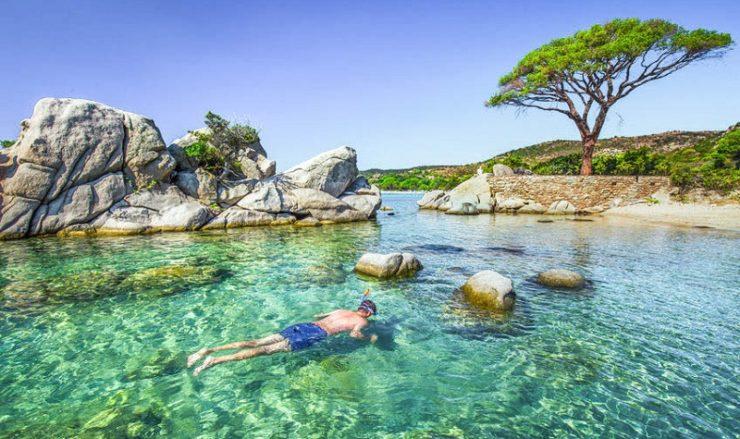 Snorkeling en Corse
