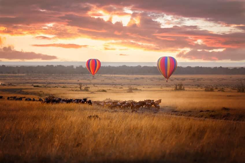 réserve masai mara montgolfière