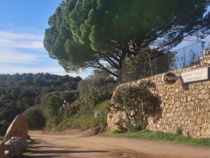 route plage roccapina