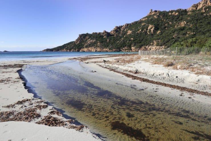 rivière plage roccapina