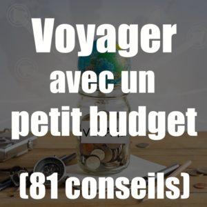 voyager avec un petit budget