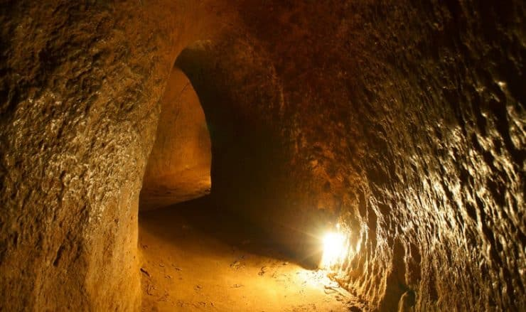 Tunnels de Cu Chi au Vietnam