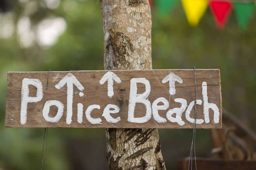 police beach koh rong