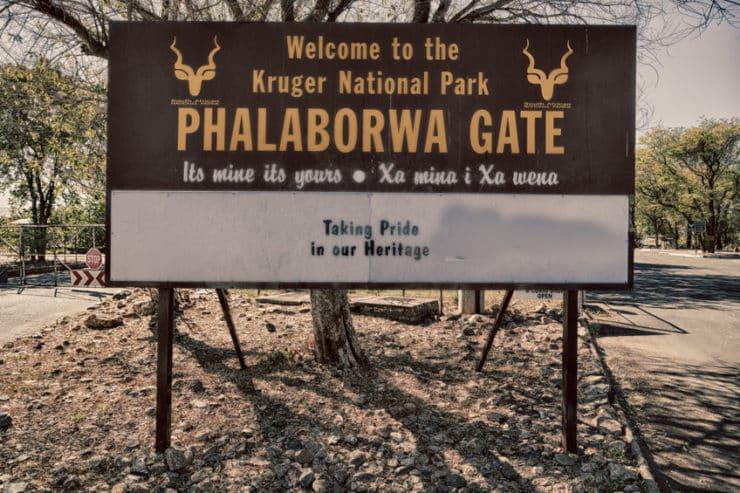 porte entrée parc national kruger