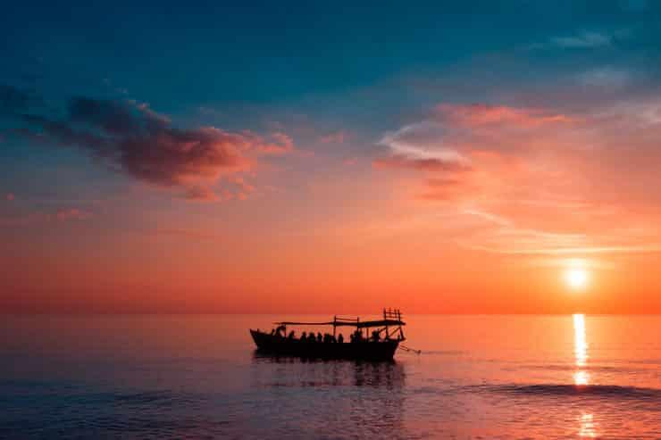 coucher de soleil koh rong samloem